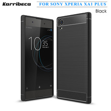 Buy Carbon fiber silicone case Sony xperia xa1 plus funda hoesje skal shockproof tpu brushed cover coque etui husa tok kryt for $5.61 in AliExpress store