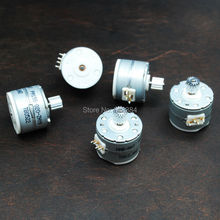 5pcs NMB 2 phase 4 wire Micro stepper motor With output metal gear dia 15mm  stepping motor step angle 18 degrees free shipping