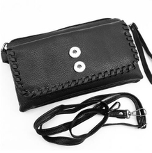 For  Women  good quality   Three layers  PU leather snap button bag    QB3669   (fit 18mm 20mm snaps)  BOBOSGIRL