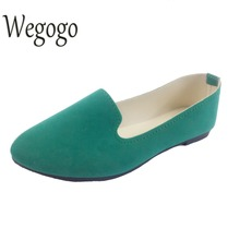 Wegogo Plus Size Shoes Women Flats Candy Color Woman Loafers Spring Autumn Flat Shoes Women Zapatos Mujer Summer Shoes Size35-43(China)