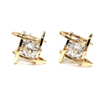 Buy Zircon stud earrings women bijoux gold-color earring new fashion jewelry wholesale gift free for $2.49 in AliExpress store