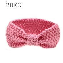 BTLIGE Knot Headband Babe Girl Winter Crochet Newborn Head Wrap Warmer Knitted Bow Hairband Hair Band Hair Bow Accessories(China)
