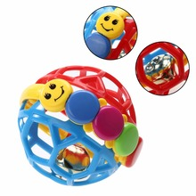 Baby Toy Fun Little Loud Bell Ball Baby Ball Toy Rattles Develop Baby Intelligence Baby Activity Grasping Toy Hand Bell Rattle(China)
