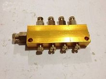 Brass 4 Way Adjustable Lube Oil Piston Distributor Value Manifold Block 6mm in 4mm Out for centralized lubrication system