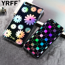 High-quality Color changing case For iPhone 7 7 Plus 6 6s plus case cover transparent back cover Rhinestone daisy flower cases