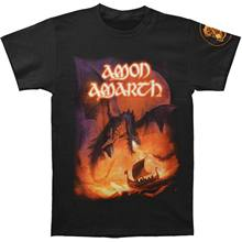Amon Amarth Men's Sea of Blood Tour T-Shirt Black Hipster Tee Shirt Homme Men Funny O Neck Short Sleeve Cotton T Shirt(China)