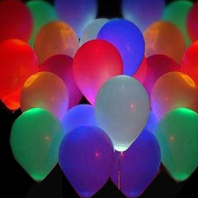 15pcs LED Balloon Light Ball Latex Multicolor Helium Balloons Christmas Halloween Decoration Wedding Birthday Party Baloons