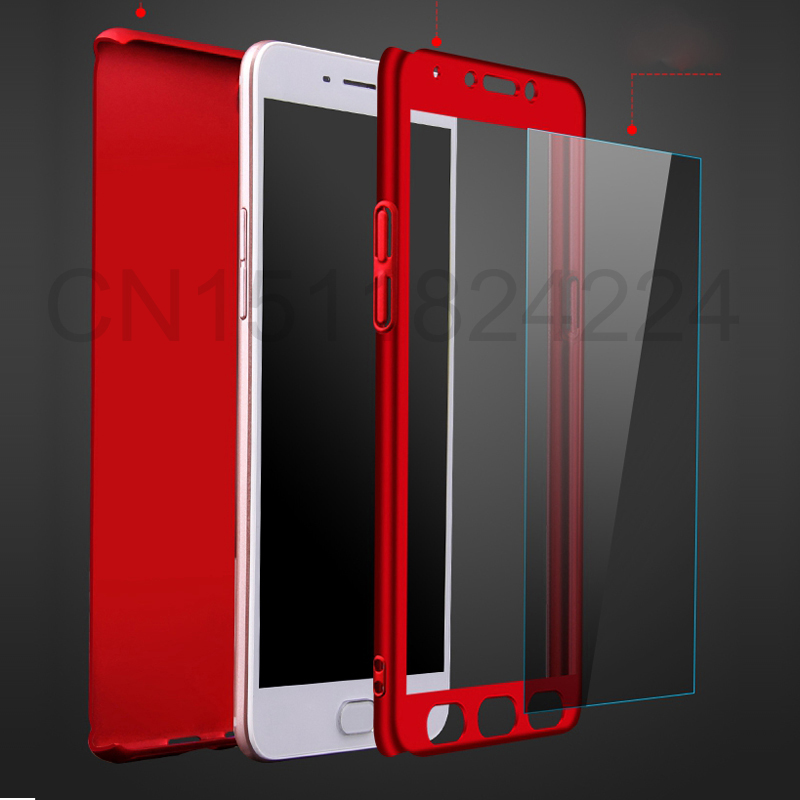 360 Full Case For Meizu Pro 7 Cases Hard PC Degree For Meizu  M6 Note M6 M5 Note  M6s Cover + Tempered Glass A3