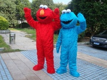 Adult size Cookie monster mascot costumes for sale adult elmo mascot costume Free shipping elmo mascot(China)