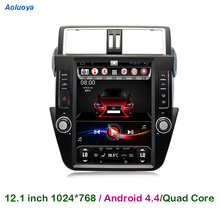 12.1 inch Quad Core Android 4.4 CAR DVD PLAYER For Toyota PRADO 2014 2015 2016 Radio GPS Navigation Multimedia WIFI Mirror link(China)
