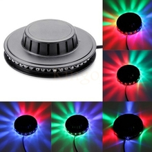 High quality Portable multi UFO Sunflower LED Laser Stage Lighting Adjustment Party Wedding Club Projector light US or EU plug(China)