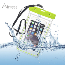 Airress Universal Luminous Waterproof Phone Pouch Bag For Smasung Iphone HTC Vivo Huawei Xiaomi Phones Up To 5.8""