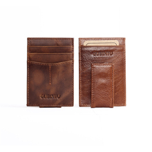 Front Pocket Magnetic Luxury Brand Men Wallet Purse Hold Bill Dollar With Male Slim Clamp For Money Clip Holder Cash Credit Card