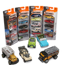 Box Matchbox 1:75 Mini Alloy Collectible Model Cars Exotic Classic Ride Jungle Crew Diecast Car Educational Tools Toys for Boy(China)