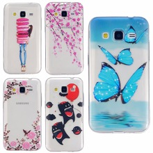 Coque Grand Prime Case Ultrathin TPU Fashion Painting Case For Samsung Galaxy Core Prime Case SM-G360 G360H Soft Silicone Cover