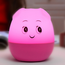 USB charging portable cartoon cute pig night light wireless bluetooth mini stereo speaker child bedroom bedside table LED lamp