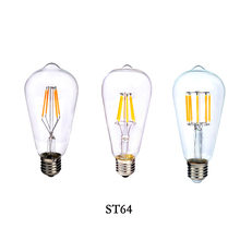 Edison Retro Filament LED E14 E27 2W 4W 6W 8W Candle Light Spot Lamp Xmas Bulb ST64 Led Specialty Decorative Light Bulbs(China)