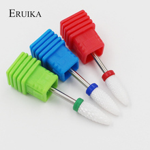 "ERUIKA 3 Type Ceramic Nail Drill Bit 3/32"" Rotate Burr Cutter Bits For Manicure Electric Nail Drill Accessories Nail Mill Tools(China)"