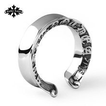 Punk Never Die Stainless steel Personalized Customization Engraved  open Ring  For Men Jewelry