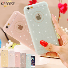 KISSCASE For iPhone 5 5S 6 6s Case Lovely Silicon Case Bling Glitter Cute Lady Girl Cover For iPhone 5 5S 6 6 6s 7 Plus Case(China)