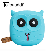 Tollcuudda 18650 PowerBank Cute Cartoon Owl 5000mAh Power Bank Portable Charger External Battery Pack For Iphone 6s Mobile phone(China)