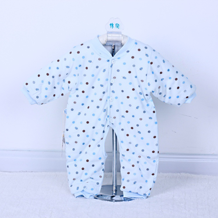 2017 Autumn Winter Warm newborn baby clothes cotton Dots printed kids rompers roupa infantil for newborns baby boy girl clothes<br><br>Aliexpress