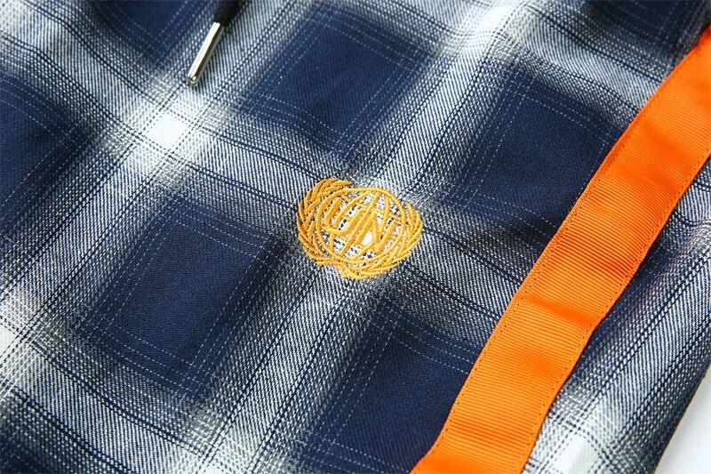 Side Ribbon Plaid Pants 15
