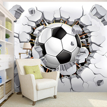 Custom Wall Mural Wallpaper 3D Soccer Sport Creative Art Wall Painting LivingRoom Bedroom TV Background Photo Wallpaper Football(China)