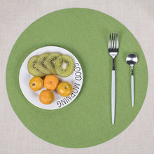 35CM Fashion Table Mat Solid Color Circular Non-Slip Placemat Waterproof Heat Insulation Pads For Kitchen Bowl Plate Cup TB Sale