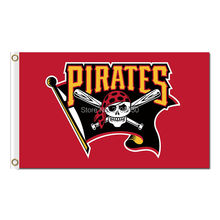 Pittsburgh Pirates Flag World Series Champions Baseball Fan Team Flags 3x5ft Banner 90x150cm Red Yellow Black Banners Polyester(China)
