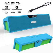 Sardine HIFI blue portable wireless bluetooth Speaker, Stereo TF FM radio subwoofer column for computer mp3 player soundbar(China)