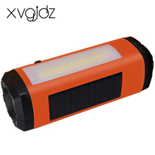 Xvgidz dual LED Light Portable Bluetooth Speaker Wireless Super Bass Mini Speaker with FM Solar charge TF card slot