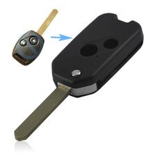 10pcs/lot 2 Buttons Modified Flip Remote Key Shell For Accord CRV Odyssey For Honda 2015 New Style Folding Fob Case