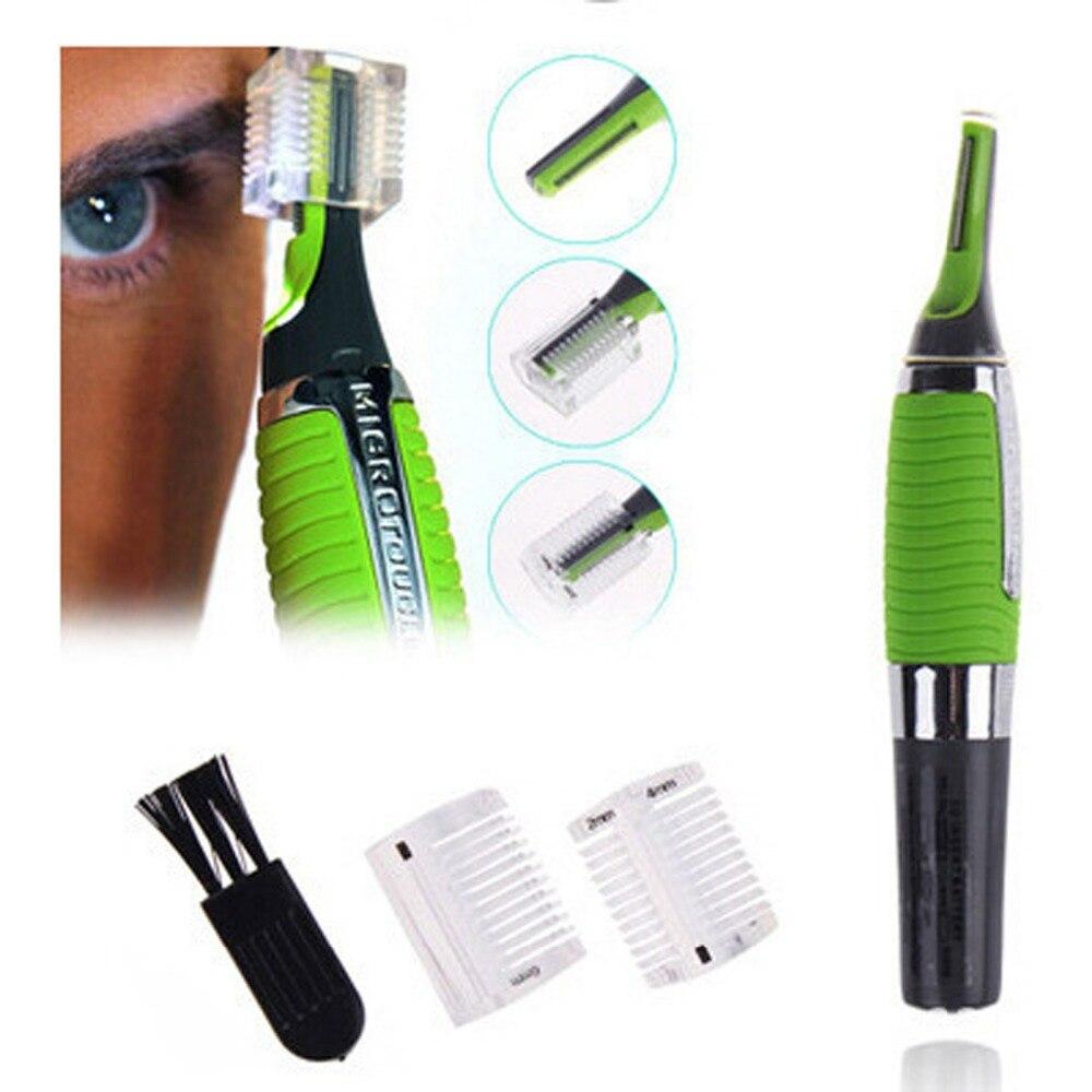 SQWUYON Micro Precision Ear Nose Eyebrow Hair Trimmer Shaver Machine Men's Travel LED Light Shavers Razors For Men Shaving Razor