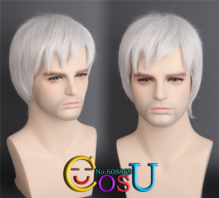 Overwatch Soldier 76 Straight Sliver Gray Cosplay Full  Wigs Costume Halloween layer Hair<br><br>Aliexpress