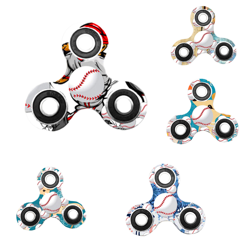 New Arrival Baseball Series Fingertip Gyro Baseball Printed Hands Spinner ABS Ball Bearing
