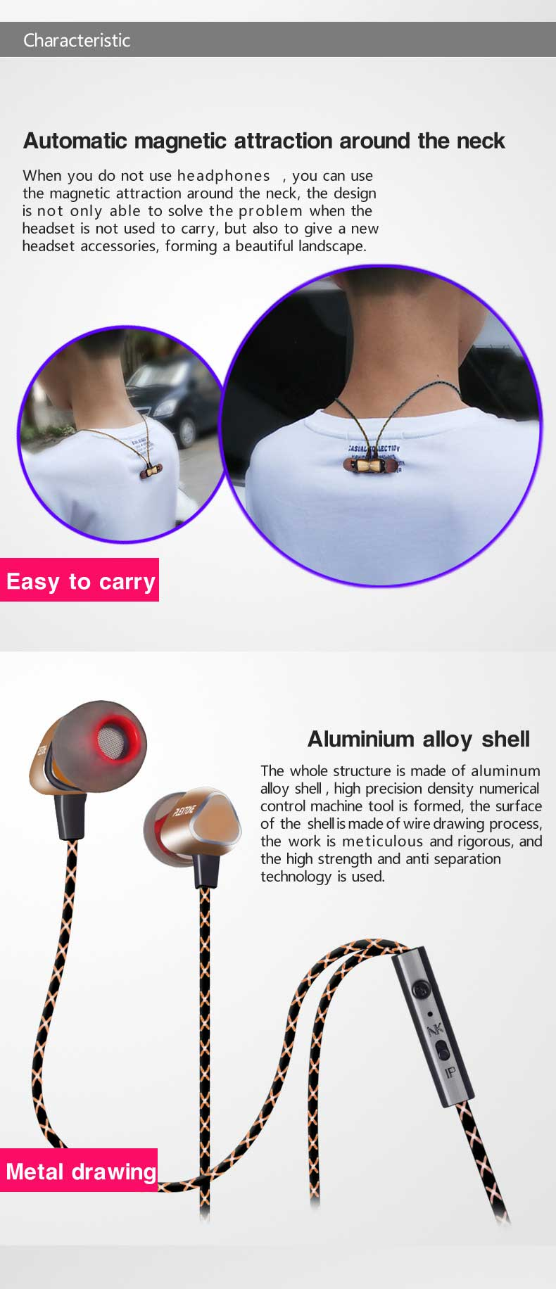 Plextone X36M 3.5mm HIFI Earphones Stereo Sport Movement Headset Game Wired Earphones Subwoofer Bass Earbuds Earphone With Mic
