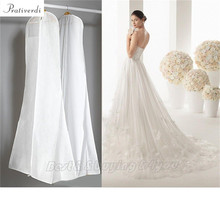 Prativerdi 1x Wedding Dress Cover Storage Bags Dustproof Large Breath Bridal Gown Garment 160/170/180CM Free Shipping