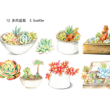 Dessert/Forest/Furniture/Drinks/Ink/countryside/succulents Plants Paper Washi Tape DIY Sticker(China)