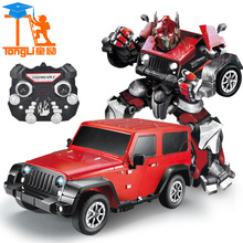 High quality Sports Cars Models Deformation Robot Transformation Remote Control Trucks Cars Toys for children Christmas Gifts TL