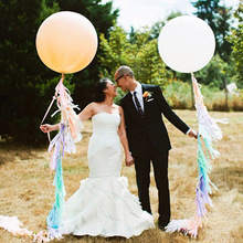 ( 36inch Balloon +Tassel Garland) Colorful Tissue Paper Tassels Party wedding decoration Garland Buntings Pompom Tassle