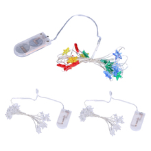 2M / 3M Star Copper Wire String Lights LED Fairy Lights Christmas Wedding Decoration Lights Battery Operate Holiday party Lights
