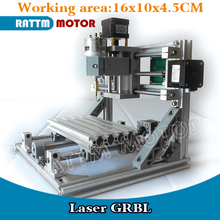 EU Delivery! 1610 GRBL control DIY mini CNC machine working area 160x100x45mm 3 Axis Pcb Milling machine,Wood Router, v2.4