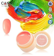 CANNI 140 Color Gel Paint Solid Pure Glitter UV Soak Off Gel Builder Gel Nail Art French Tips Deco 630-641(China)