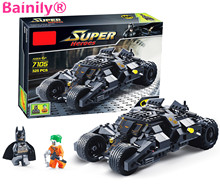[Bainily]Super Heroe Batman Race Truck Car Model Technic Building Block SetS DIY Toys Compatible Legoe Batman To Children's Gift