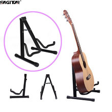 Hot A-shape frame steel metal stent folding music stand acoustic/classic guitar sitting dedicated shelf Guitar Parts Accessories