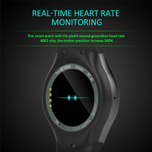 2017 Full Round Bluetooth Smart watch AS2 Rotating Bezel Clock with Heart rate monitor MTK2502 for IOS Android PK G3 KW18(China)