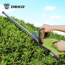 DEKO 20V Lithium 1500mAh Cordless Hedge Trimmer Quick Charge Rechargeable Electric Trimmer Pruning Saw with Dual Blade/Saw(China)