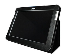 Free shipping for Samsung Galaxy Tab 2 10.1 folding leather case cover with stand GT-P5100 P5110 P7510 Tablet case