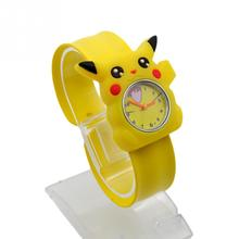 High quality Snap watches 3D Kids Cartoon watches for Batman Pikachu children Christmas gift sports silicone slap wristwatch(China)